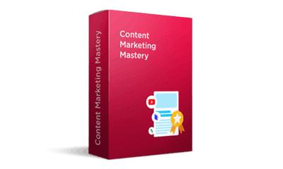 Pre-recorded Content Marketing Mastery course