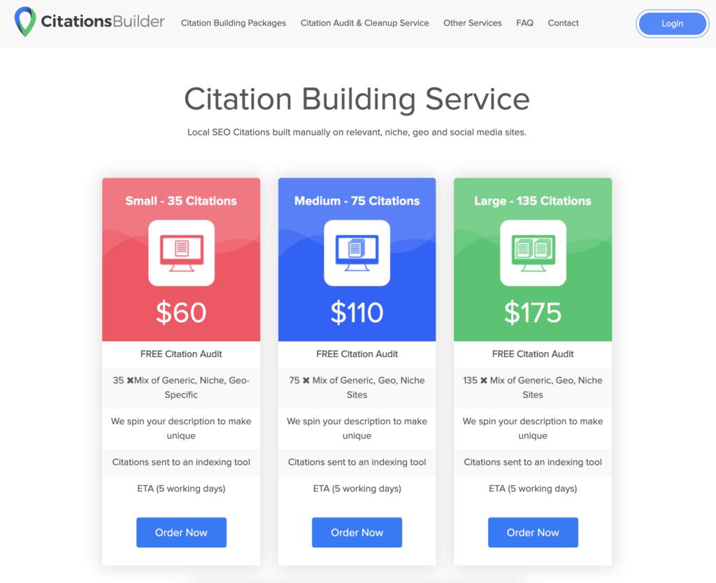 Citation building service - productized service
