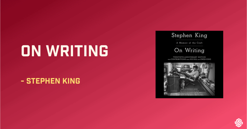 On writing book, Stephen King, book about writing, book on writing books about writing